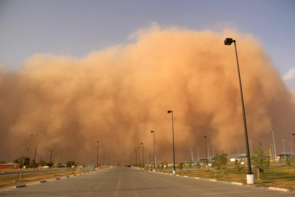 Driving in a Dust Storm